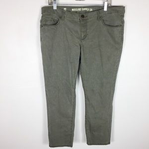 Mossimo Green Pantacourt AnkleCrop Jeans